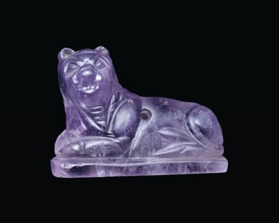 A GRECO-PERSIAN AMETHYST LION