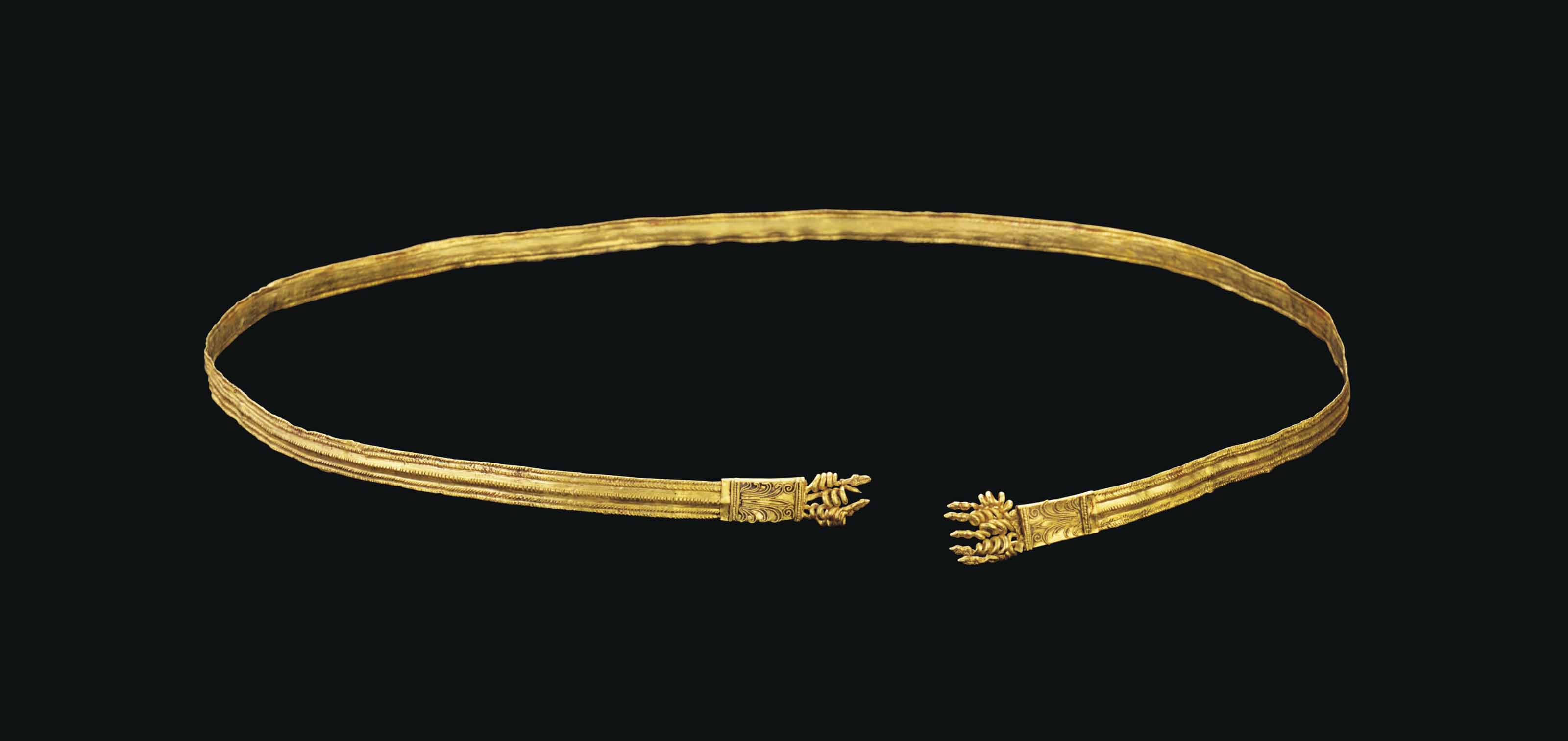 A GREEK GOLD BELT