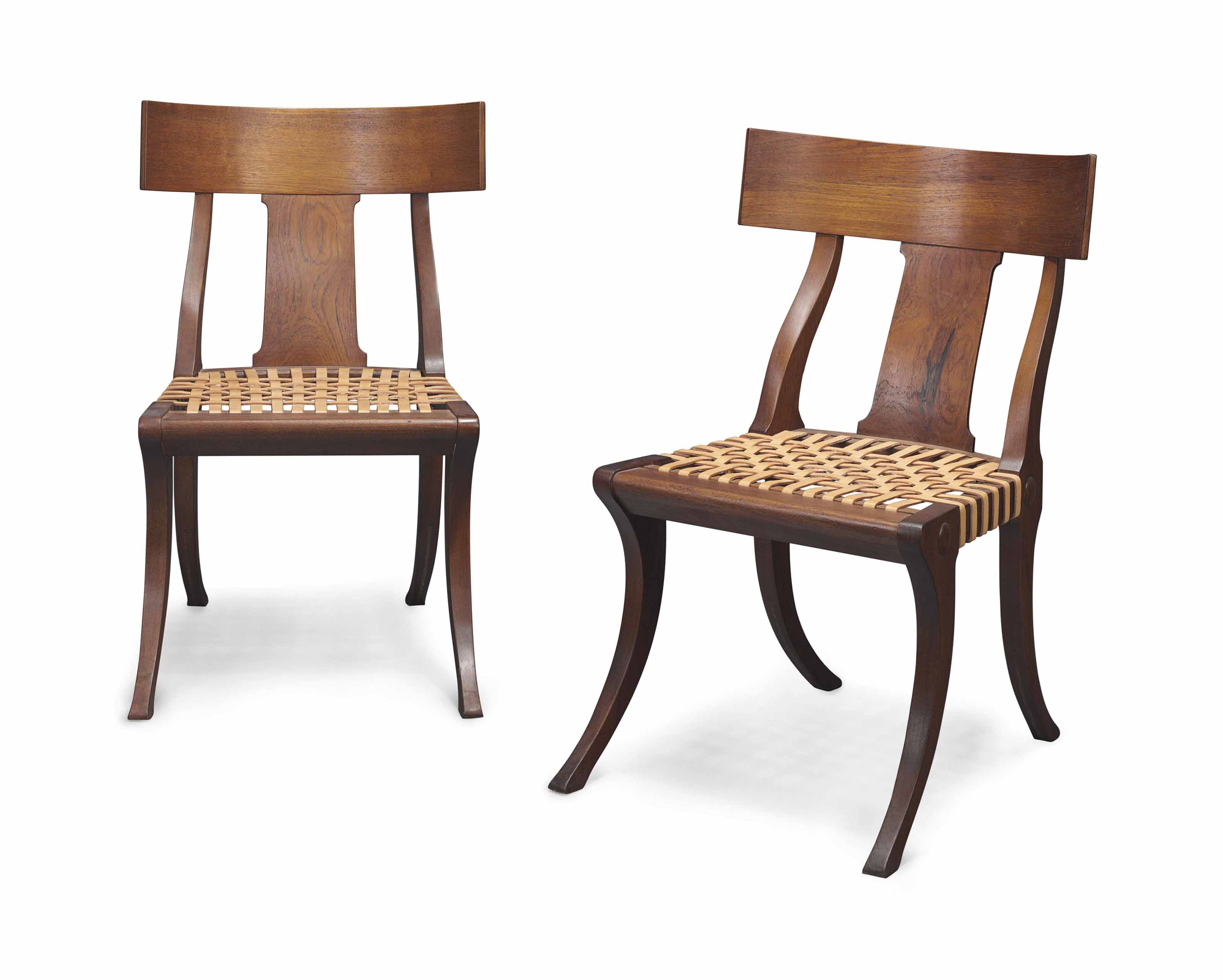 Groovy A Pair Of Klismos Chairs By Jamb Modern Chair Wood Unemploymentrelief Wooden Chair Designs For Living Room Unemploymentrelieforg