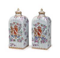 A PAIR OF SAMSON CHINESE EXPORT-STYLE JARS