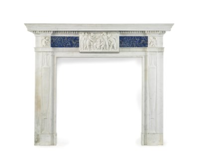 AN ENGLISH WHITE MARBLE AND LA