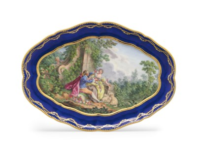 A SEVRES PORCELAIN BLUE-GROUND