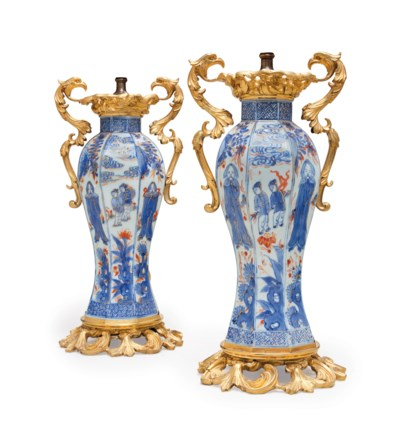 A PAIR OF ORMOLU-MOUNTED 'CHIN