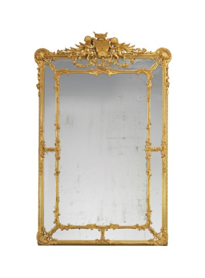 A MONUMENTAL FRENCH GILTWOOD M