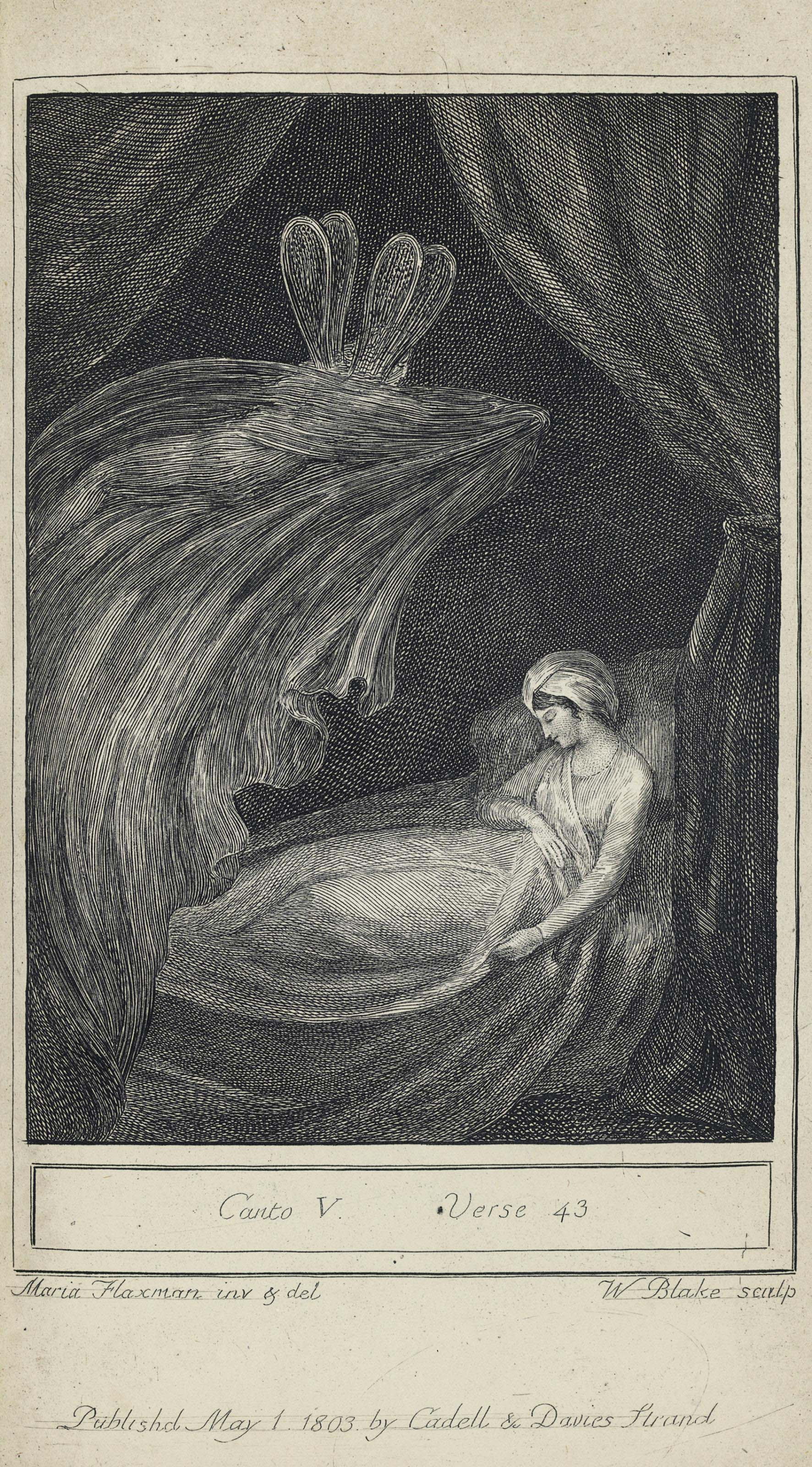 BLAKE, William, illustrator -- William HAYLEY (1745-1820). The Triumphs of Temper. A poem... twelfth edition, corrected. Chichester: J. Seagrave for T. Cadell and W. Davies of London, 1803.