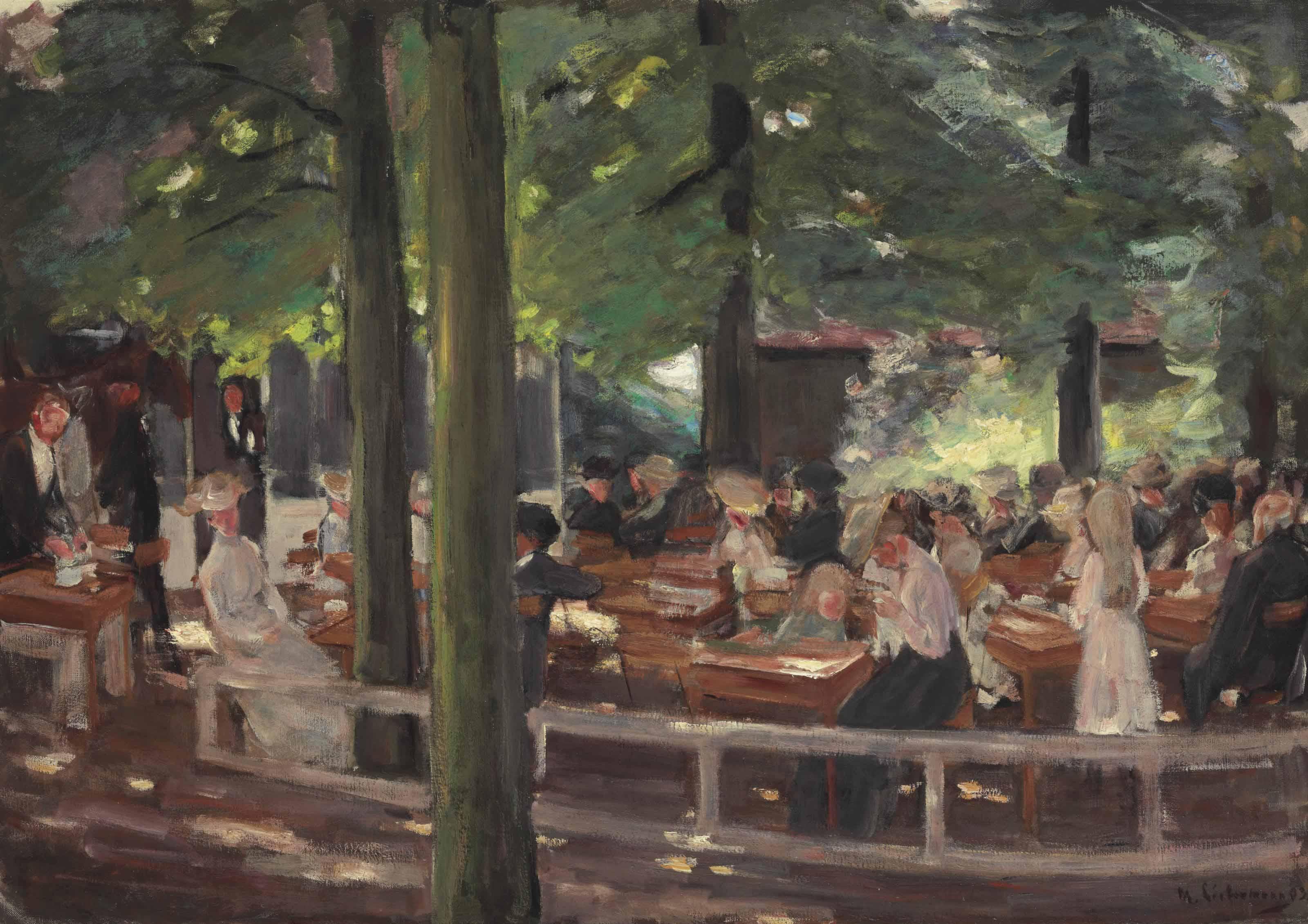 Biergarten in Laren--Studie