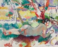 Etude inversée, Nu sous les arbres, Villa Demière