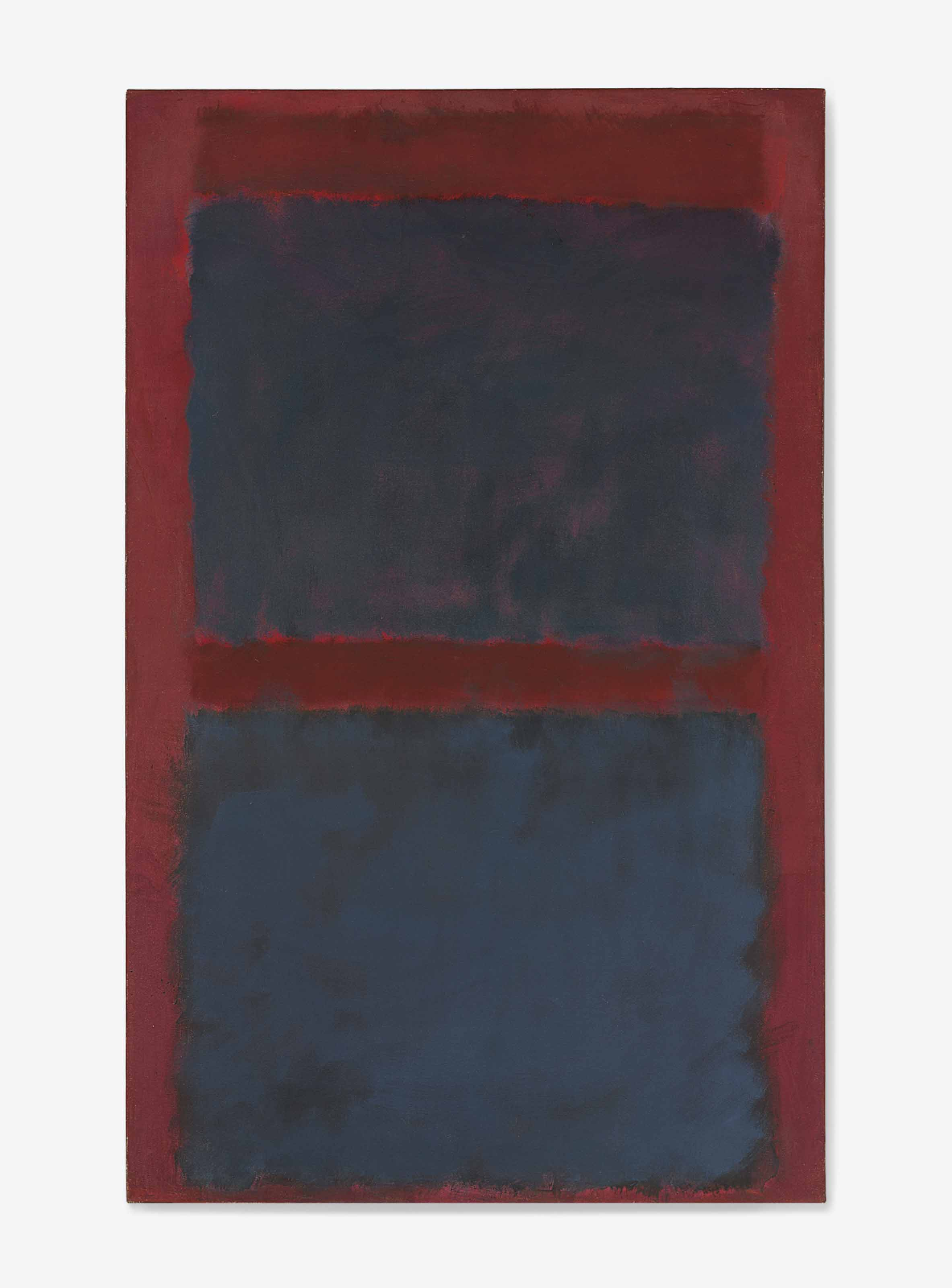 Untitled (Black on Maroon)