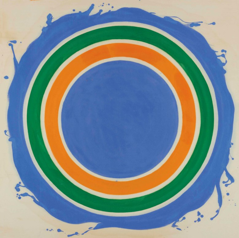Kenneth Noland (1924-2010), Untitled, 1958-1959. 42 x 42 in (106.6 x 106.6 cm). Sold on 16 May 2013 at Christie's in New York. © Estate of Kenneth NolandVAGA at ARS, NY and DACS, London 2019