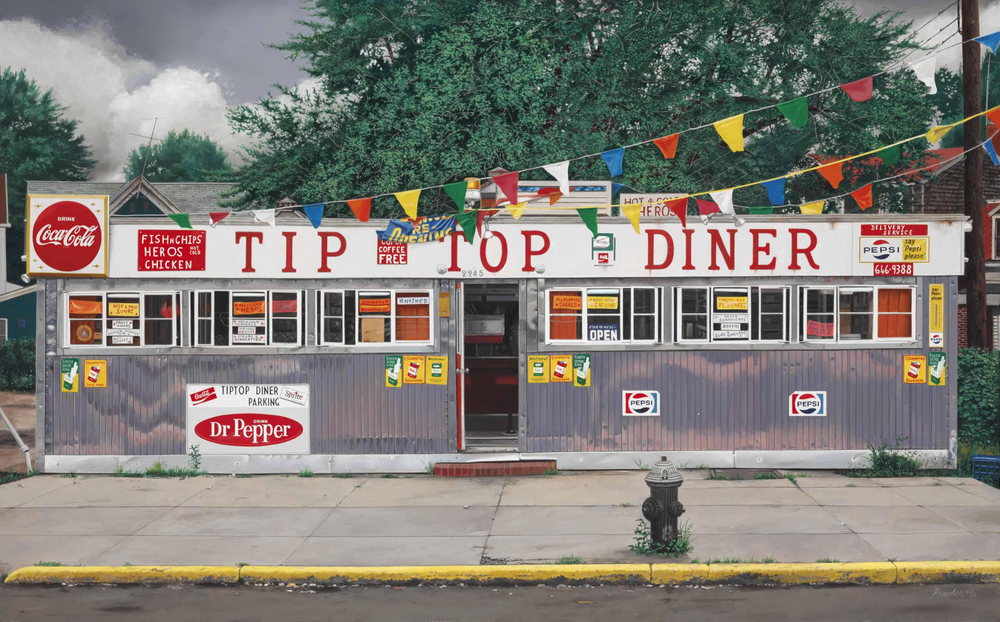 John Baeder (b. 1938) | Tip Top Diner | 1980s, Paintings | Christie\'s