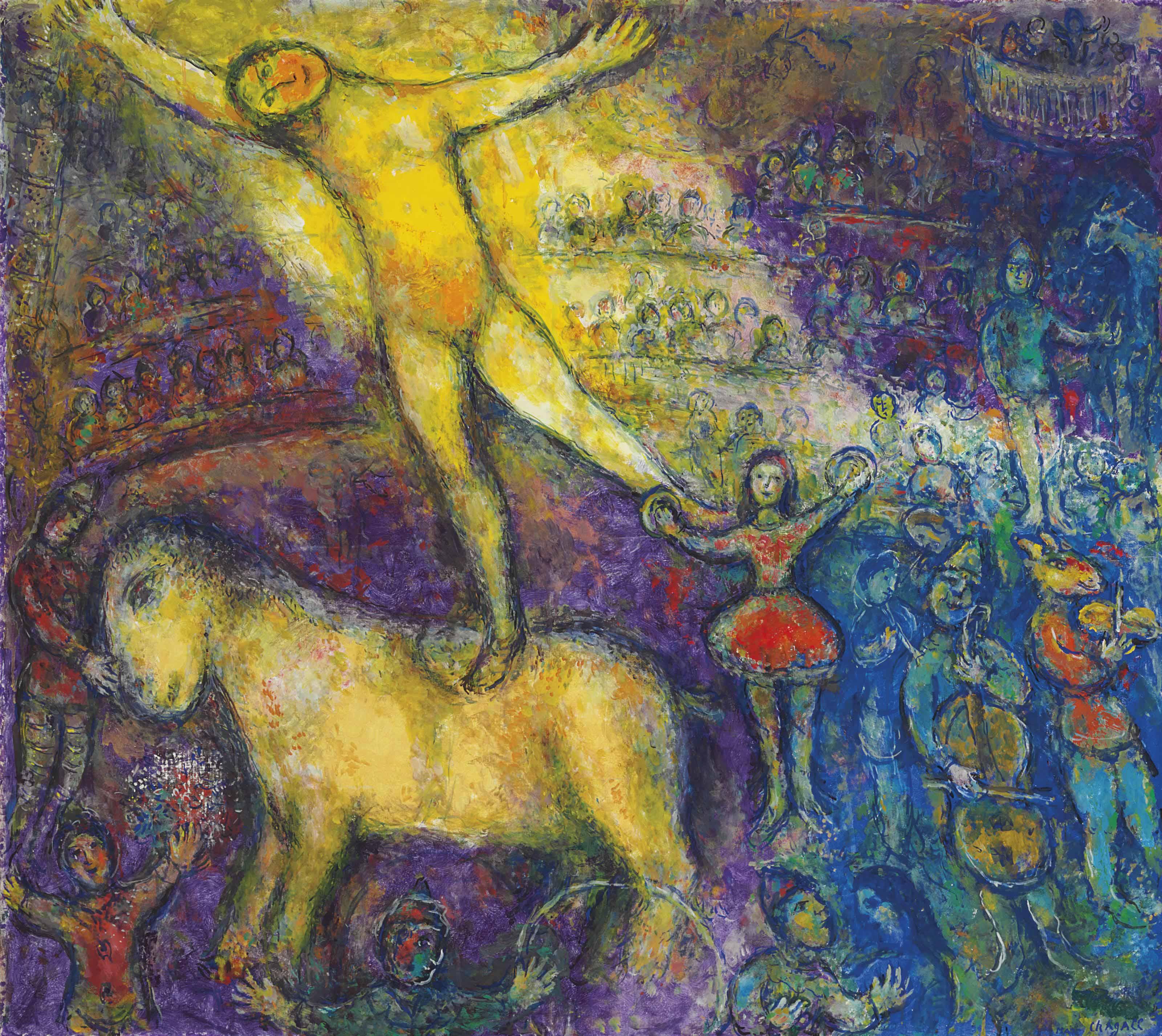 Marc chagall 1887 1985 au cirque christie 39 s for Chagall tableau