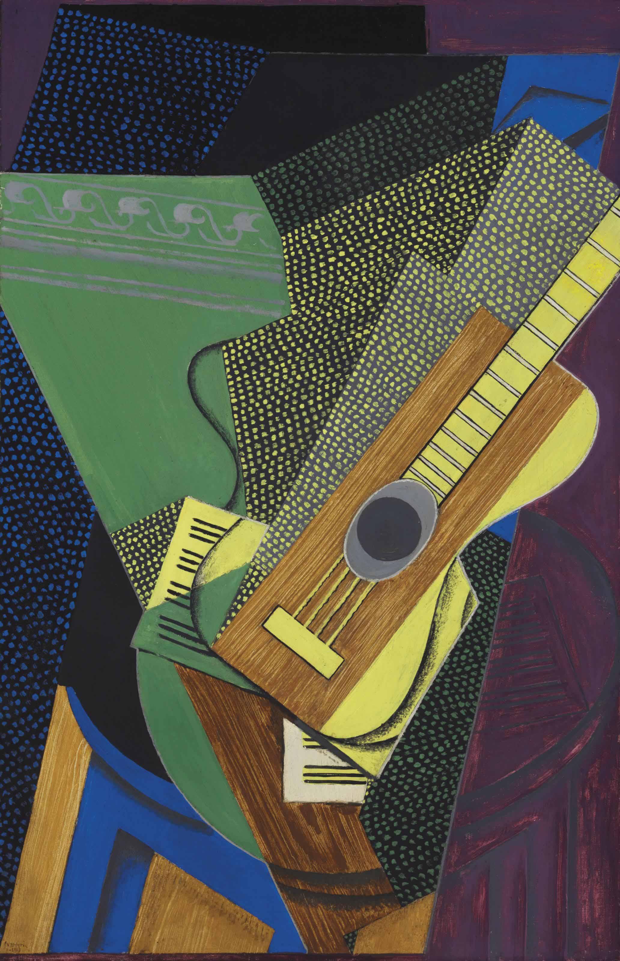 Guitare sur une table