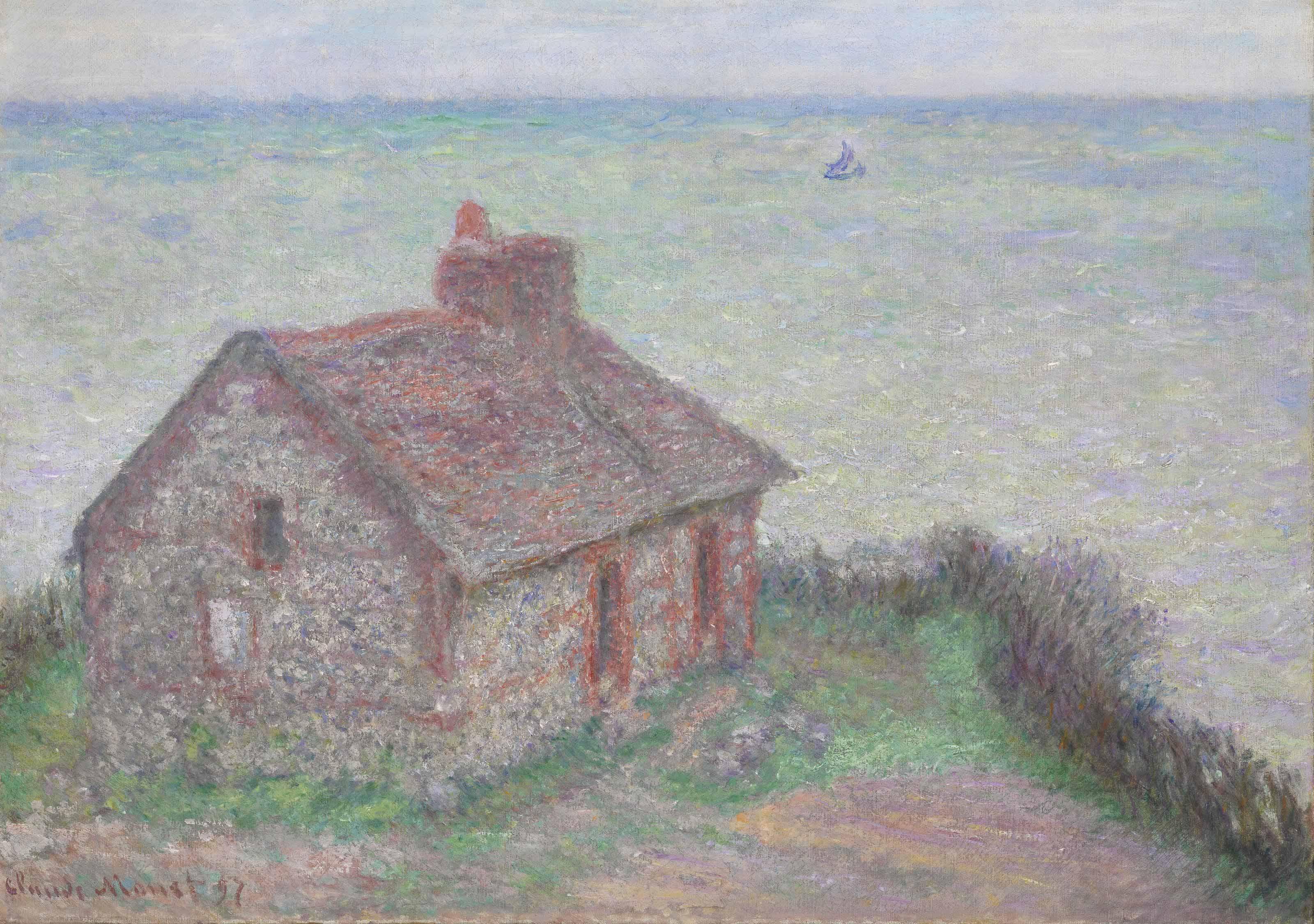 Claude Monet (1840-1926)   La maison du Douanier, effet rose   19th  Century, Paintings   Christie's