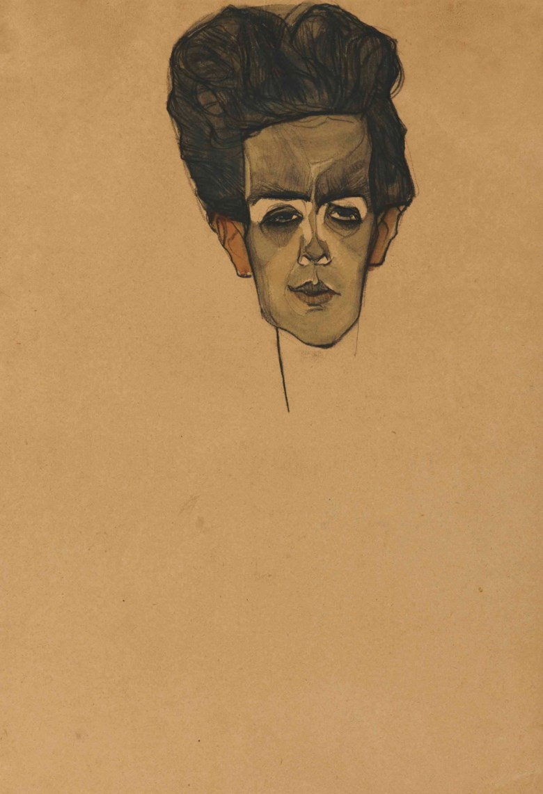 Egon Schiele (1890-1918), Selbstbildnis, executed in 1910. 17¼ x 12  in (43.7 x 30.5  cm). Sold for $1,625,000 on 5 November 2013 at Christie's in New York