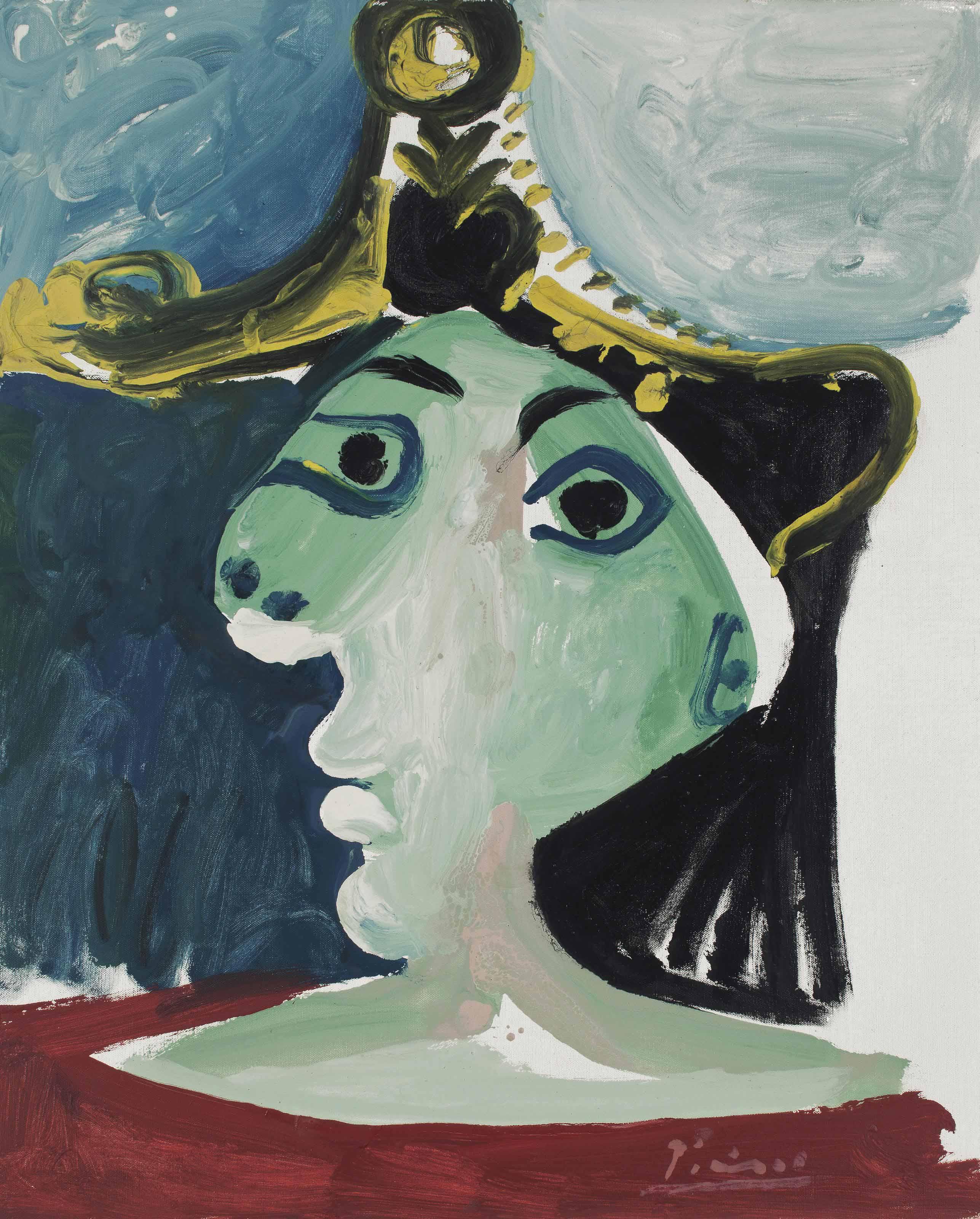 Pablo Picasso (1881-1973) | Tête de femme au chapeau | 1960s ...