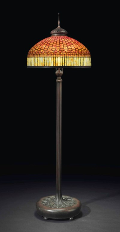 Tiffany Studios A Curtain Border Floor Lamp Circa