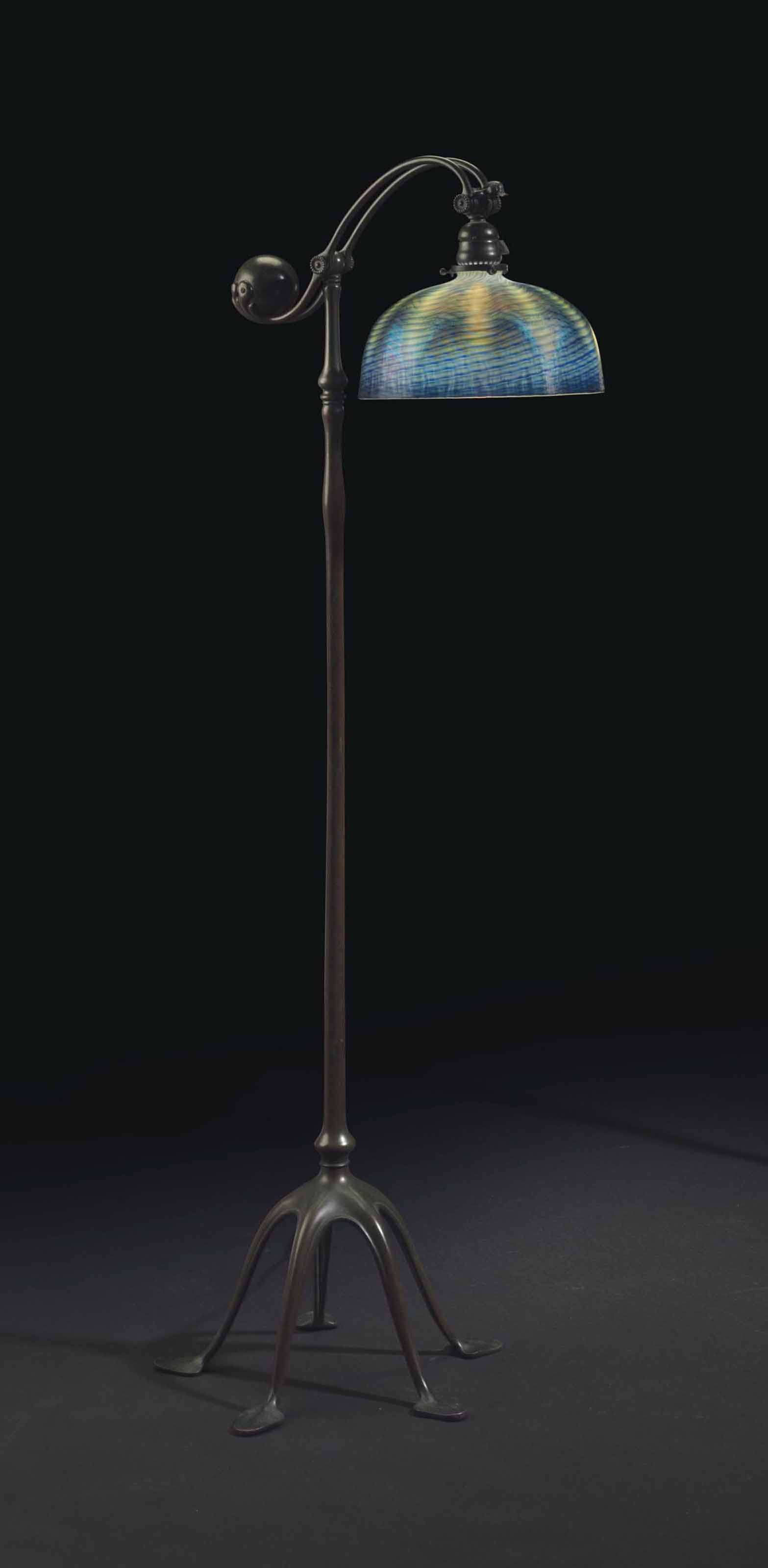 Tiffany studios a counterbalance floor lamp circa 1910 1900s lot 131 aloadofball Image collections