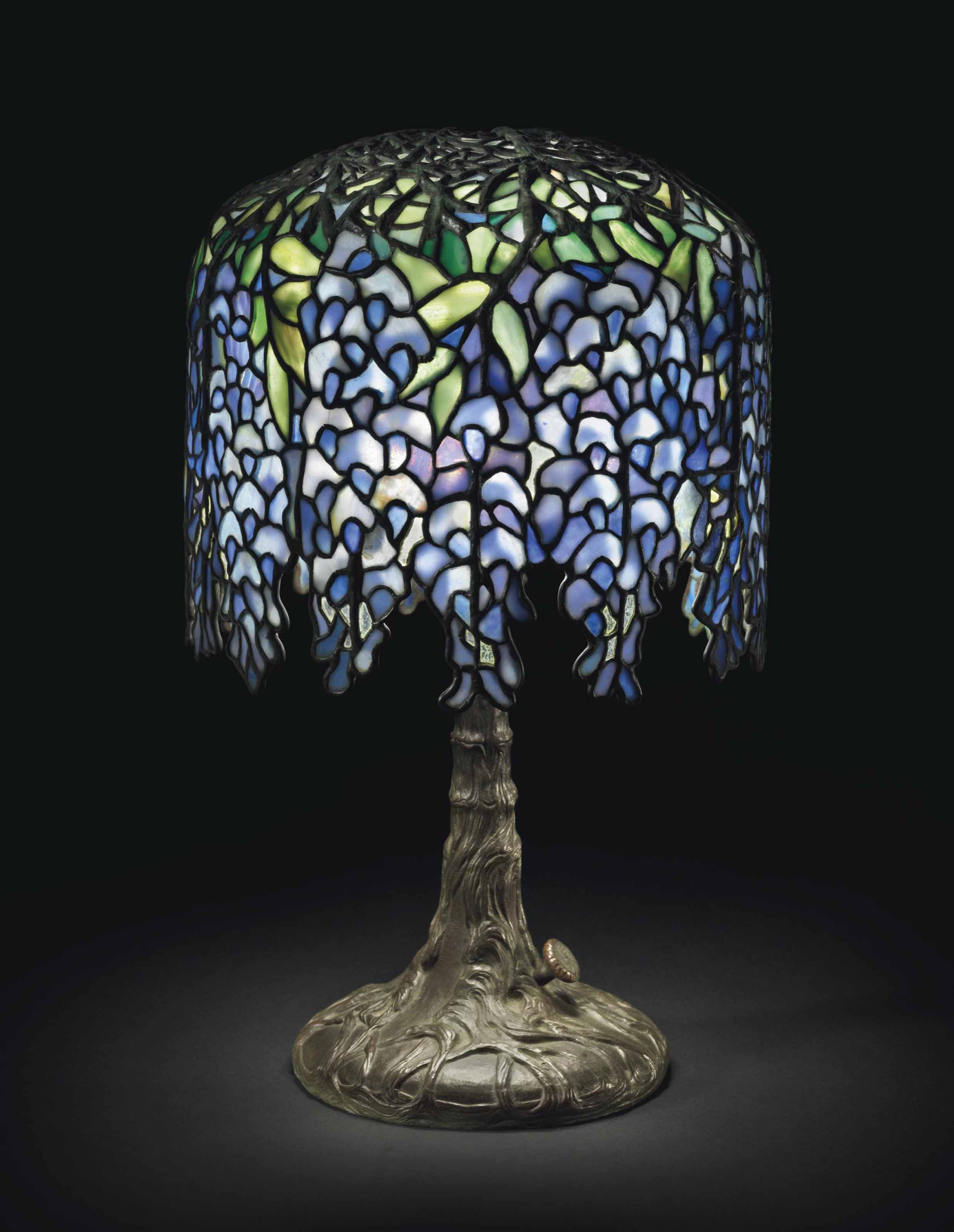 Tiffany studios a pony wisteria table lamp circa 1910 1900s lot 135 mozeypictures Image collections