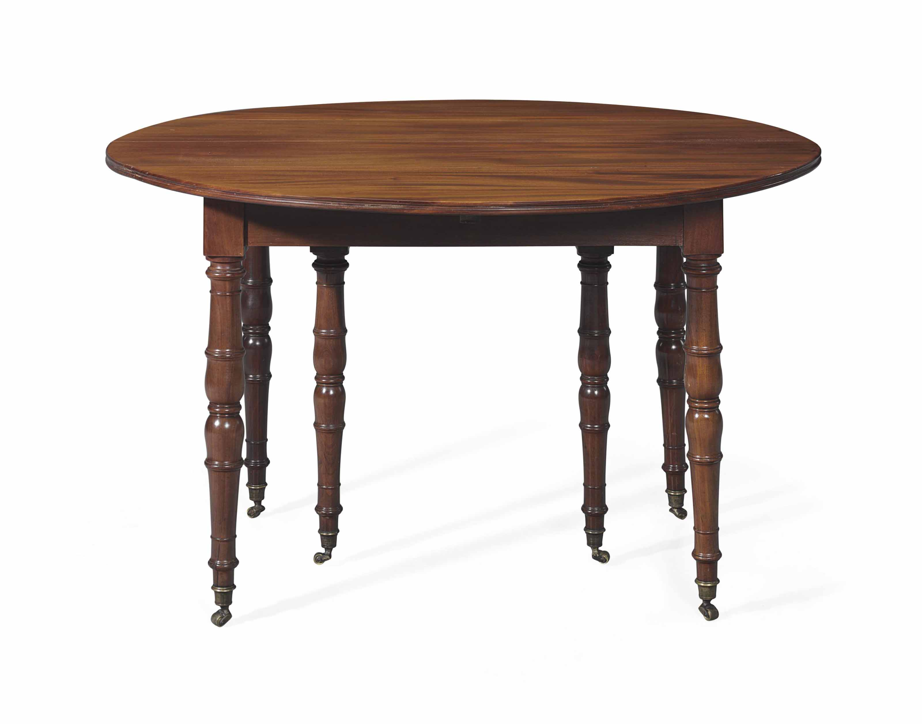A LOUIS PHILIPPE MAHOGANY EXTENDING DINING TABLE