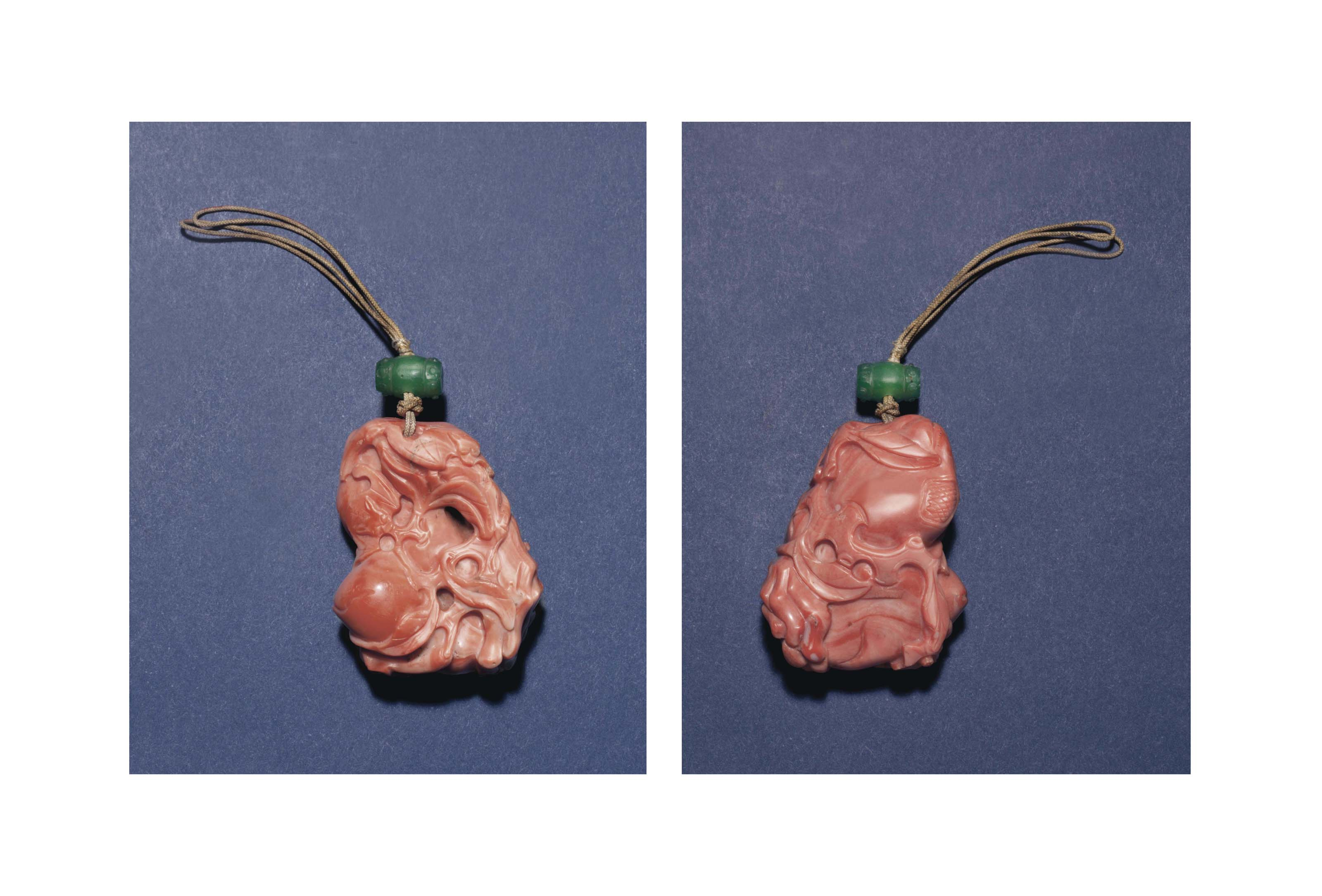A CORAL PENDANT OF THE SANDUO