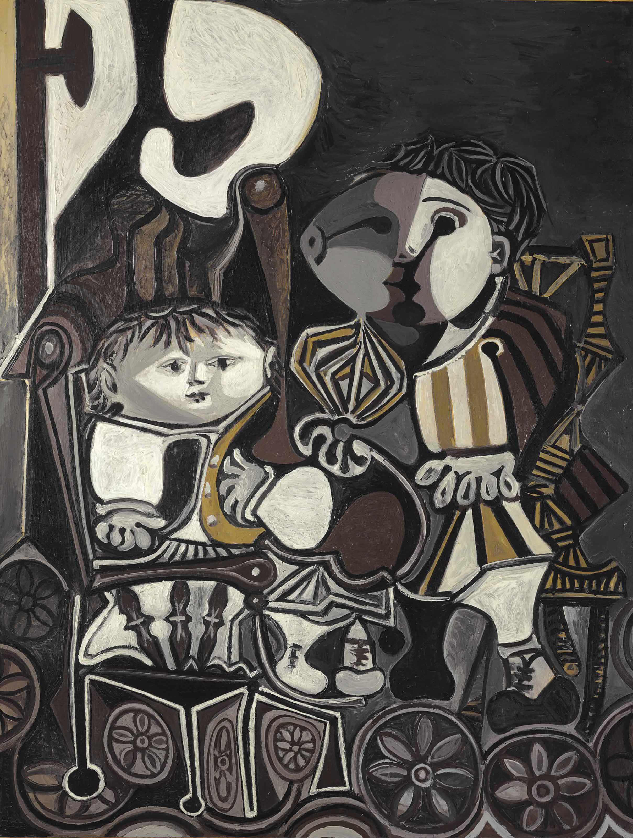 Pablo Picasso (1881-1973) | Claude et Paloma | 1950s, Paintings ...