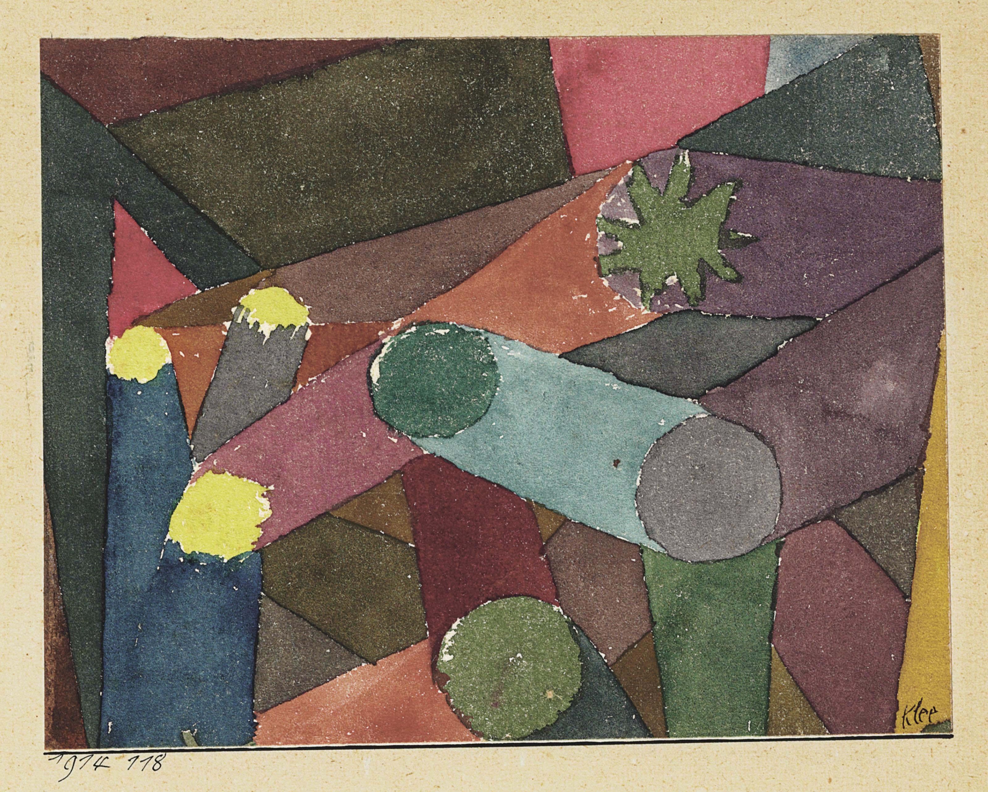 Paul klee 1879 1940 abstract garten d mmerung christie 39 s - Garten klee leipzig ...