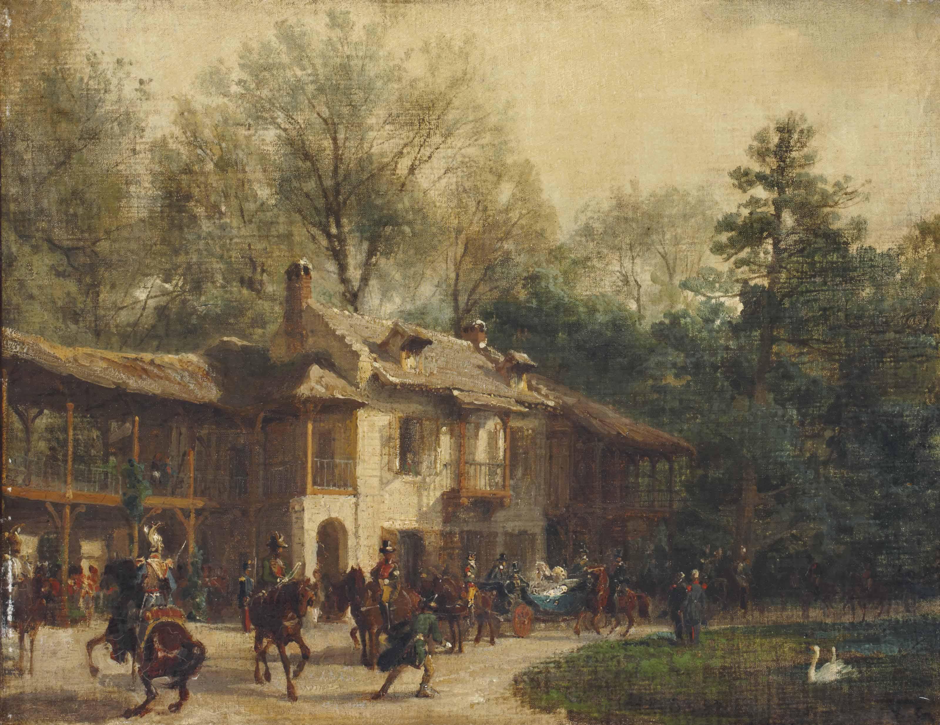 L'impératrice Eugénie au 'Petit hameau' de Trianon