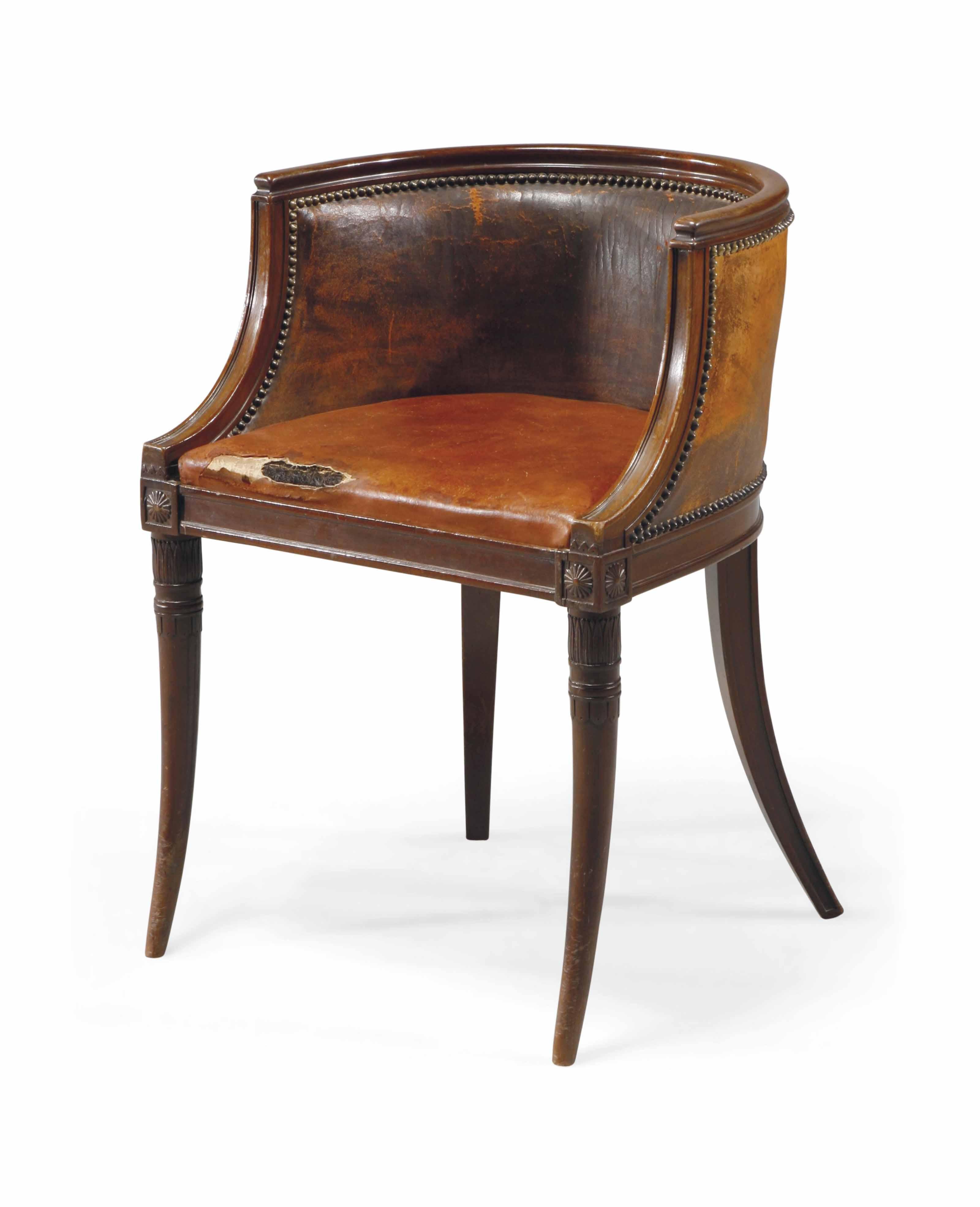 fauteuil de bureau d 39 epoque directoire fin du xviiieme siecle christie 39 s. Black Bedroom Furniture Sets. Home Design Ideas