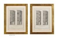 Les Loges du Vatican: Vues perspectives des Loges, Porte d'Entrée des Loges, Pilastres