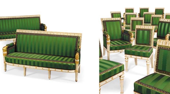 Important mobilier de salon d 39 epoque empire attribue a - Salon du mobilier paris ...