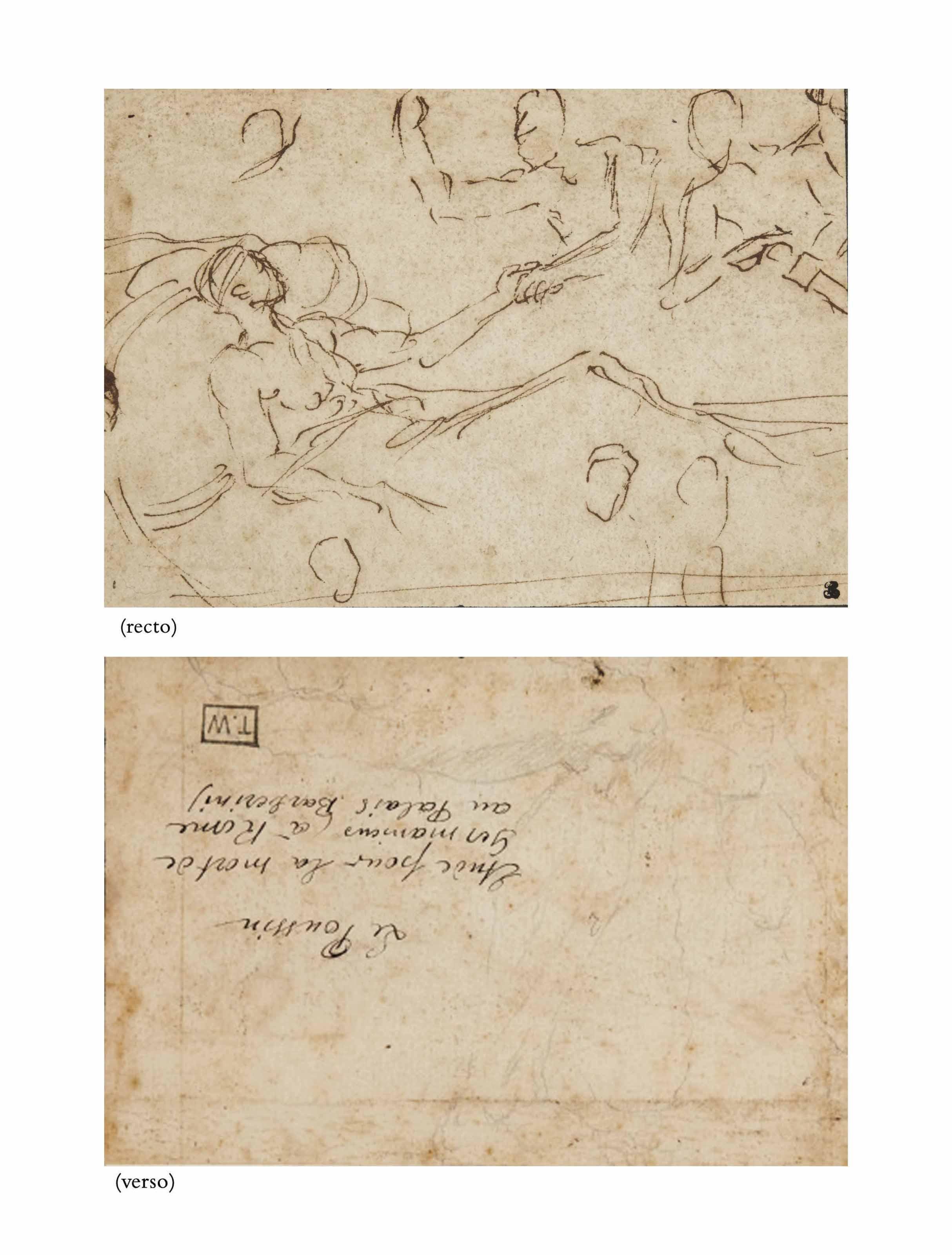 nicolas poussin les andelys 1594 1665 rome un homme allong sur un lit deux hommes debout. Black Bedroom Furniture Sets. Home Design Ideas