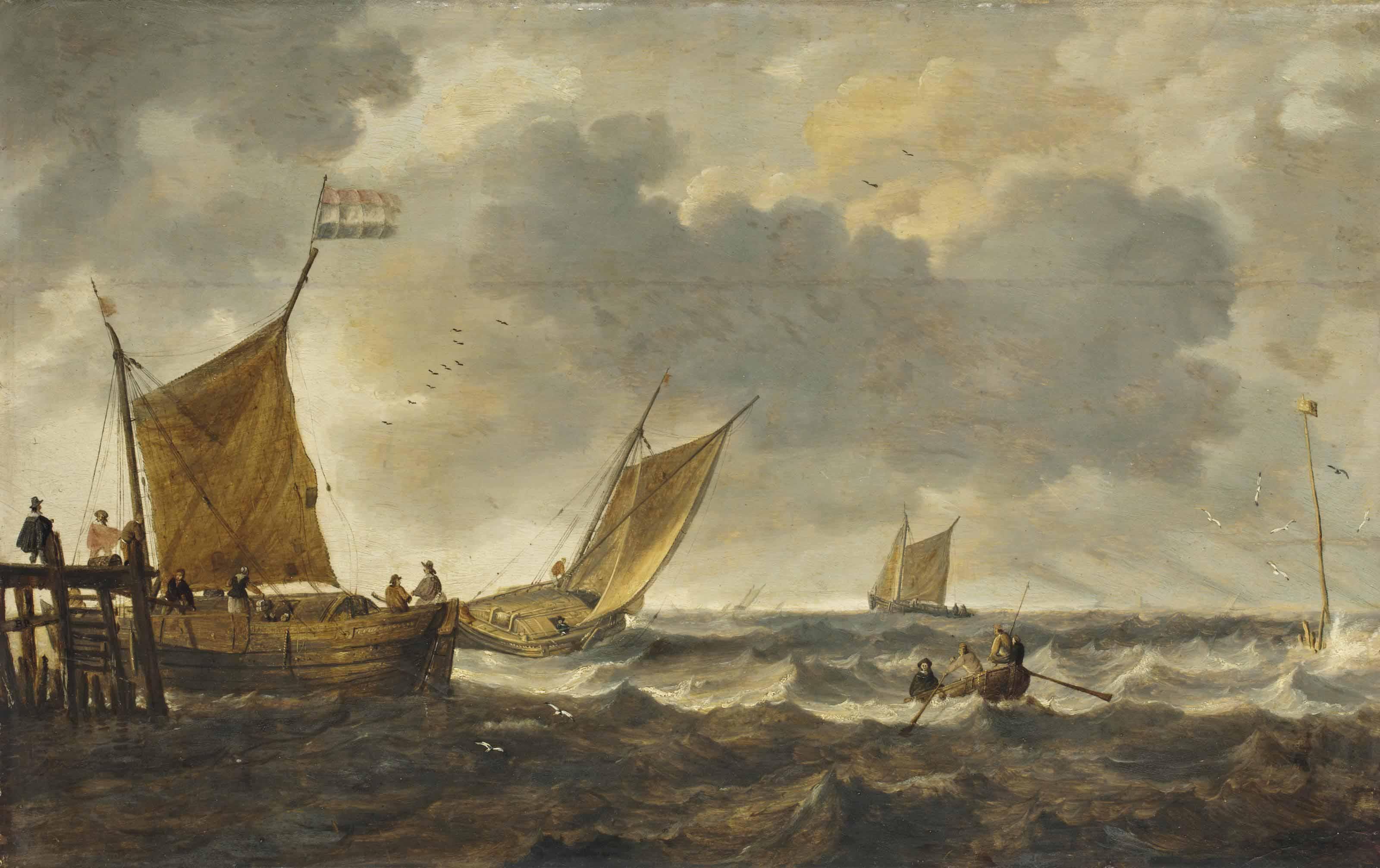Marine par grand vent