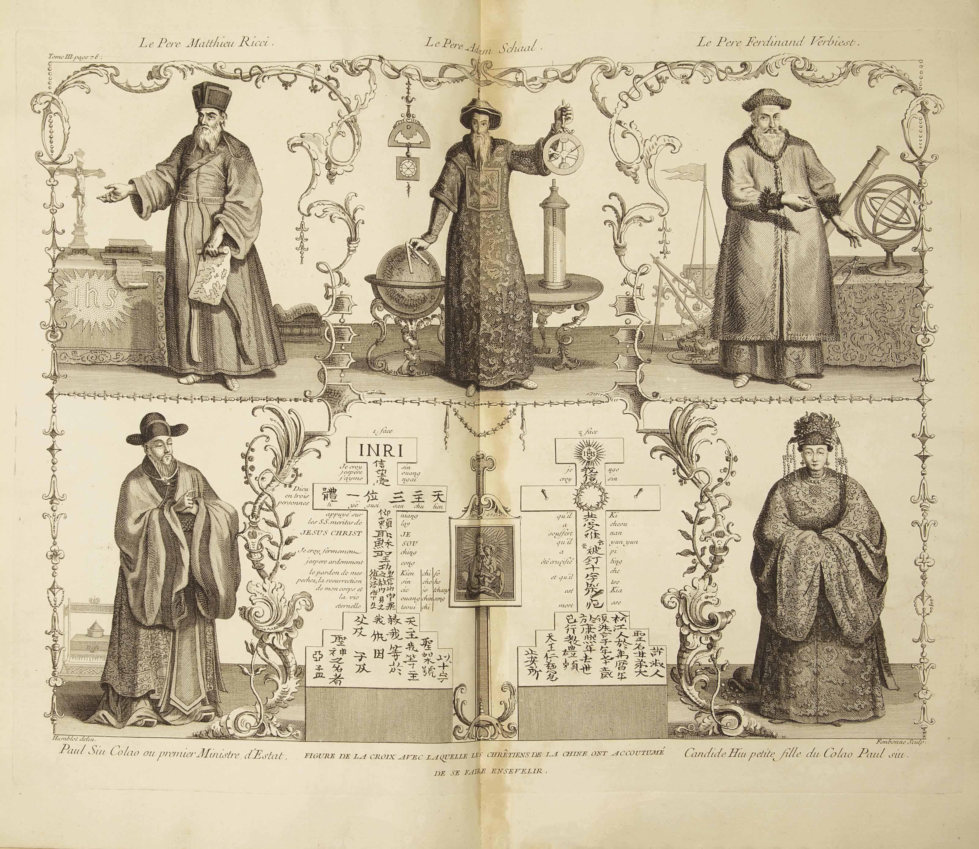 DU HALDE, Jean Baptiste (1674-1743). Description géographique, historique, chronologique, politique, et physique de l'empire de la Chine et de la Tartarie Chinoise. Paris: Le Mercier, 1735.