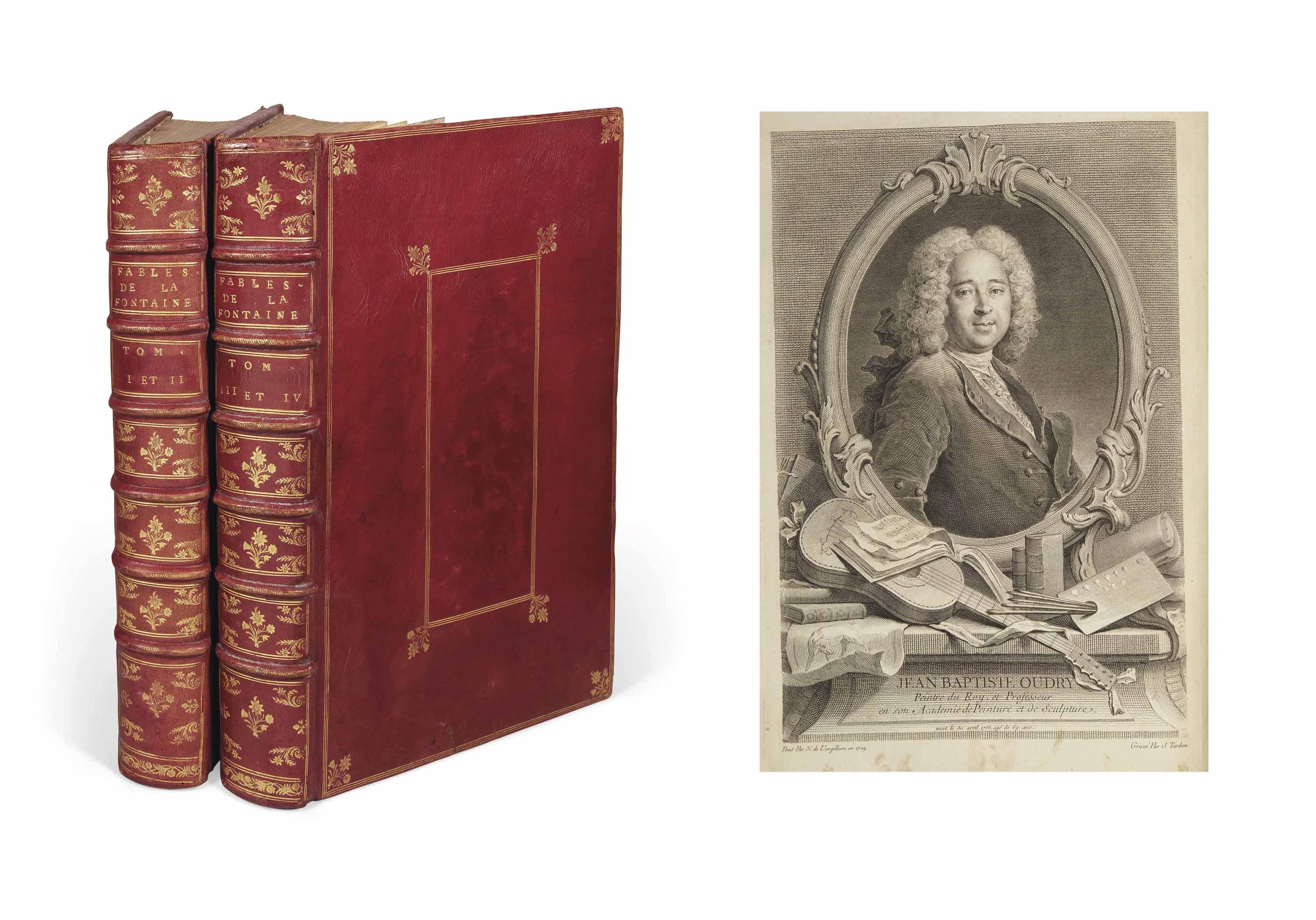 LA FONTAINE, Jean de (1621-1695). Fables choisies, mises en vers. Paris: Charles-Antoine Jombert pour Desaint & Saillant et Durand, 1755-1759.