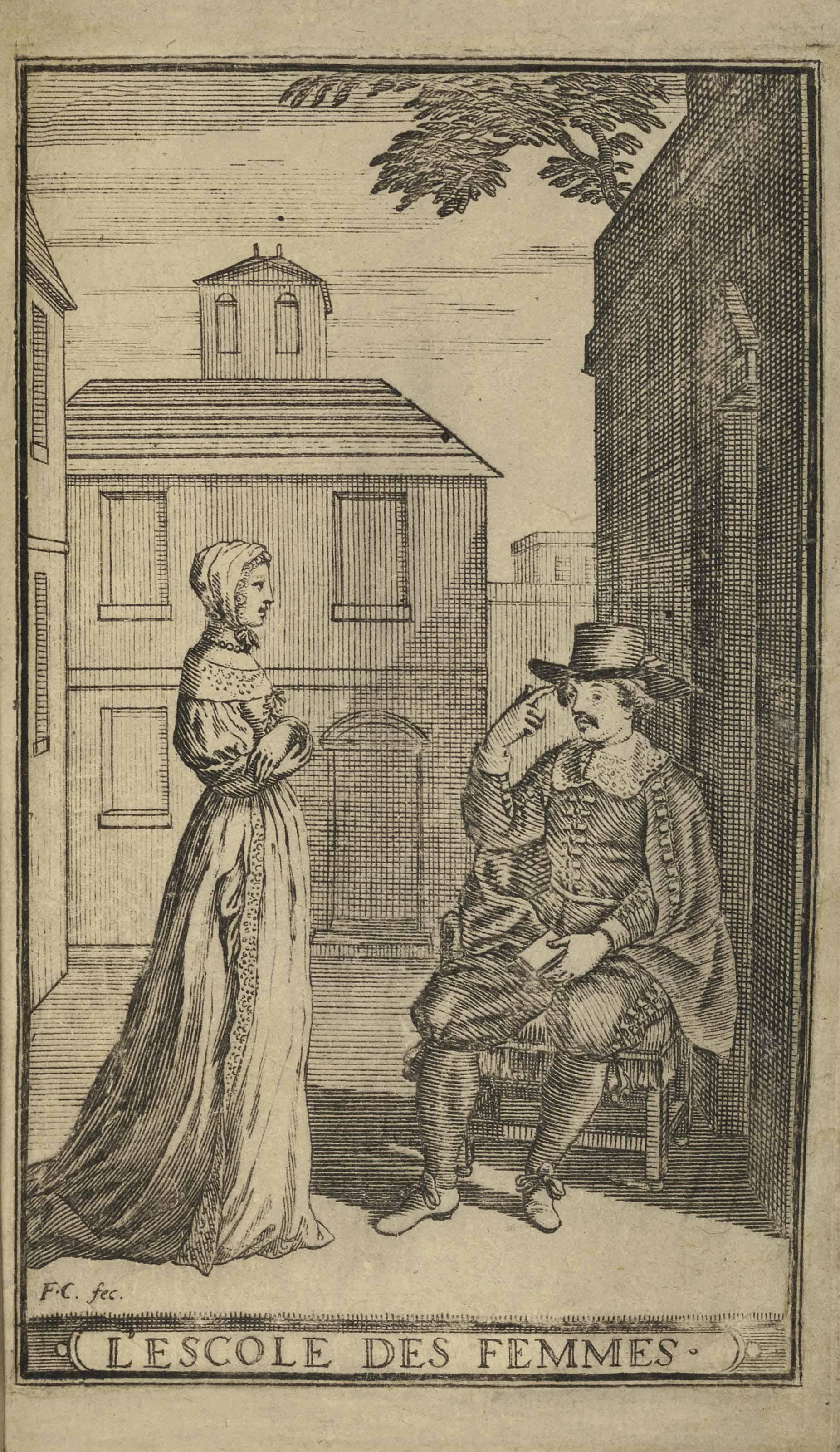 MOLIÈRE (1622-1673). L'Escole des femmes. Comédie. Paris: Thomas Jolly, 1663 [achevé d'imprimer au 17 mars].