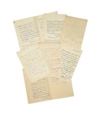 SAND, George (1804-1876). Réunion de sept lettres autographes signées à Paul Meurice entre le 2 mai 1862 et le 19 août 1870.