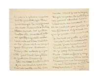 """SAND, George (1804-1876). Lettre autographe, signée """"G. Sand"""", à Gustave Flaubert. [Nohant] mardi 30 9bre [1869]."""