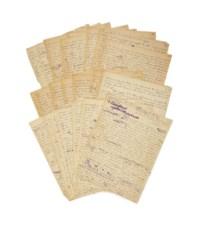 """CREVEL, René (1900-1935). [Mon corps et moi] Transparences. Manuscrit autographe, signé et daté """"La Grave 27 juin  Château de Monnetier 6 septembre 1924""""."""