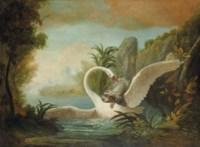 Epagneul attaquant un cygne