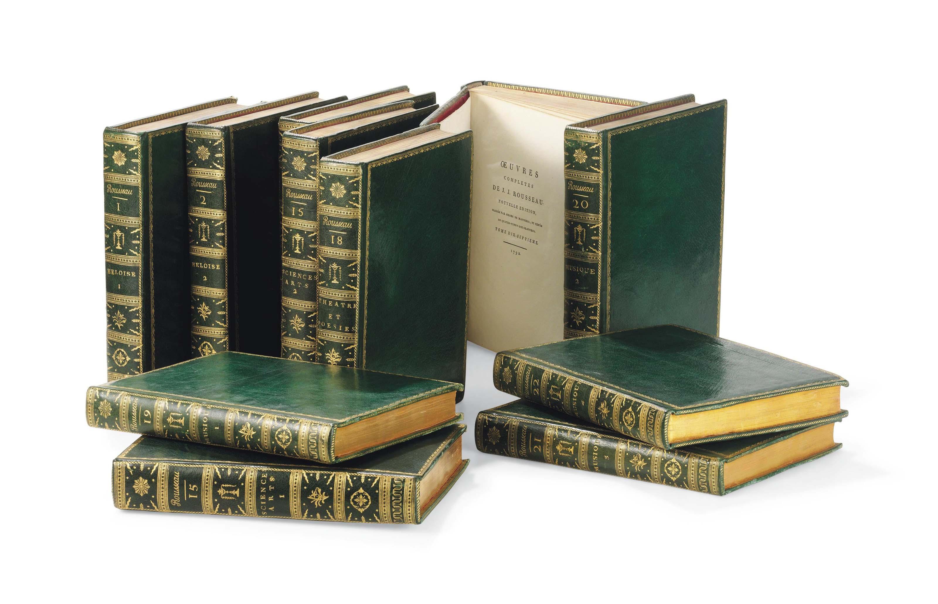 ROUSSEAU, Jean-Jacques (1712-1778). Oeuvres complètes. Nouvelle édition. [Paris : Poinçot] 1788-1793.
