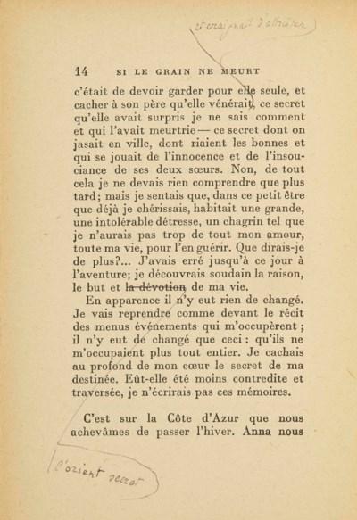 GIDE, André (1869-1951). Si le