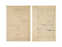 HUYSMANS, Joris-Karl (1848-1907). L'Oblat. Manuscrit autographe complet, non signé. 1903.