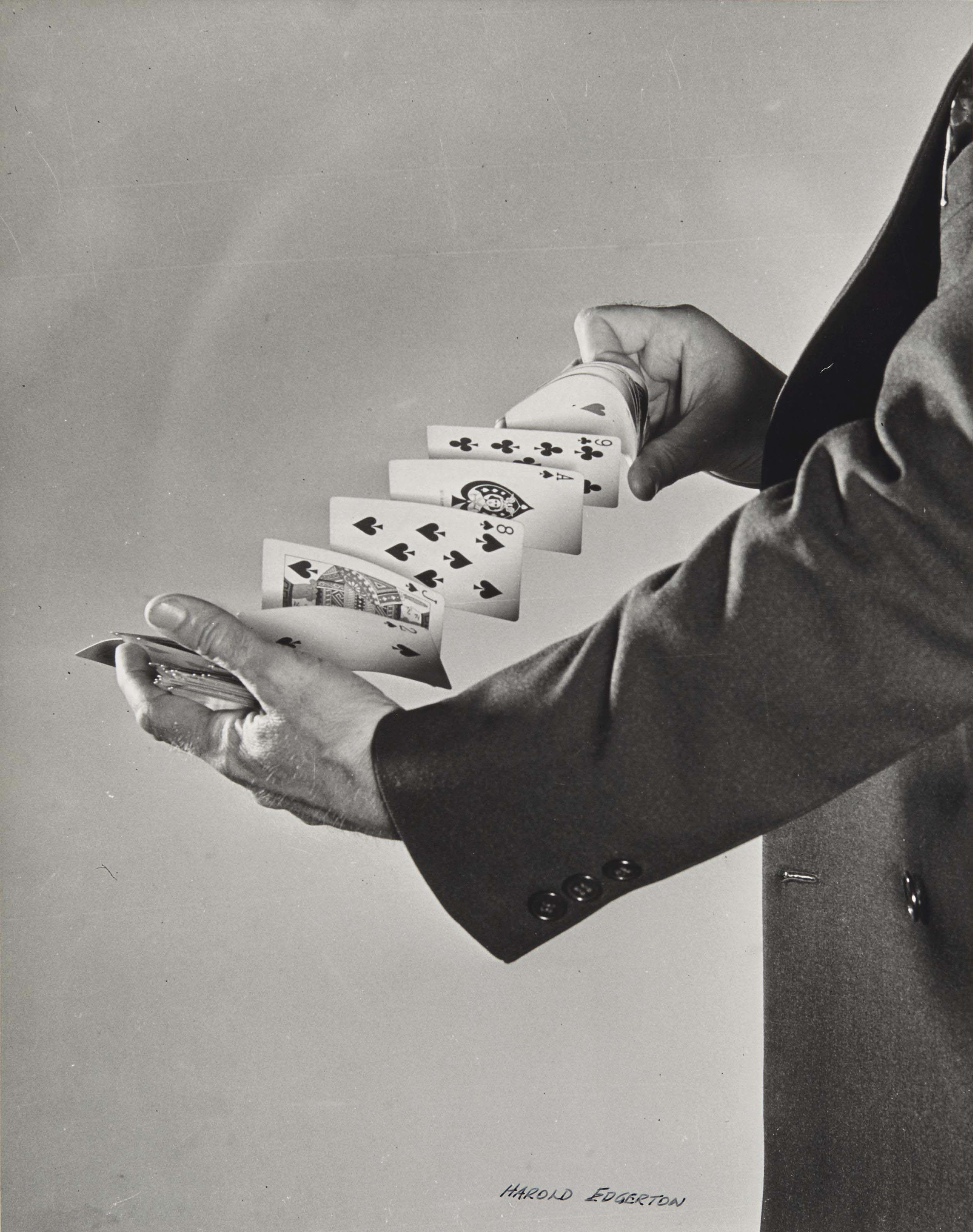 Fanning the cards, 1940