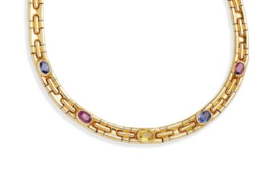 COLLIER SAPHIRS DE COULEUR, PA