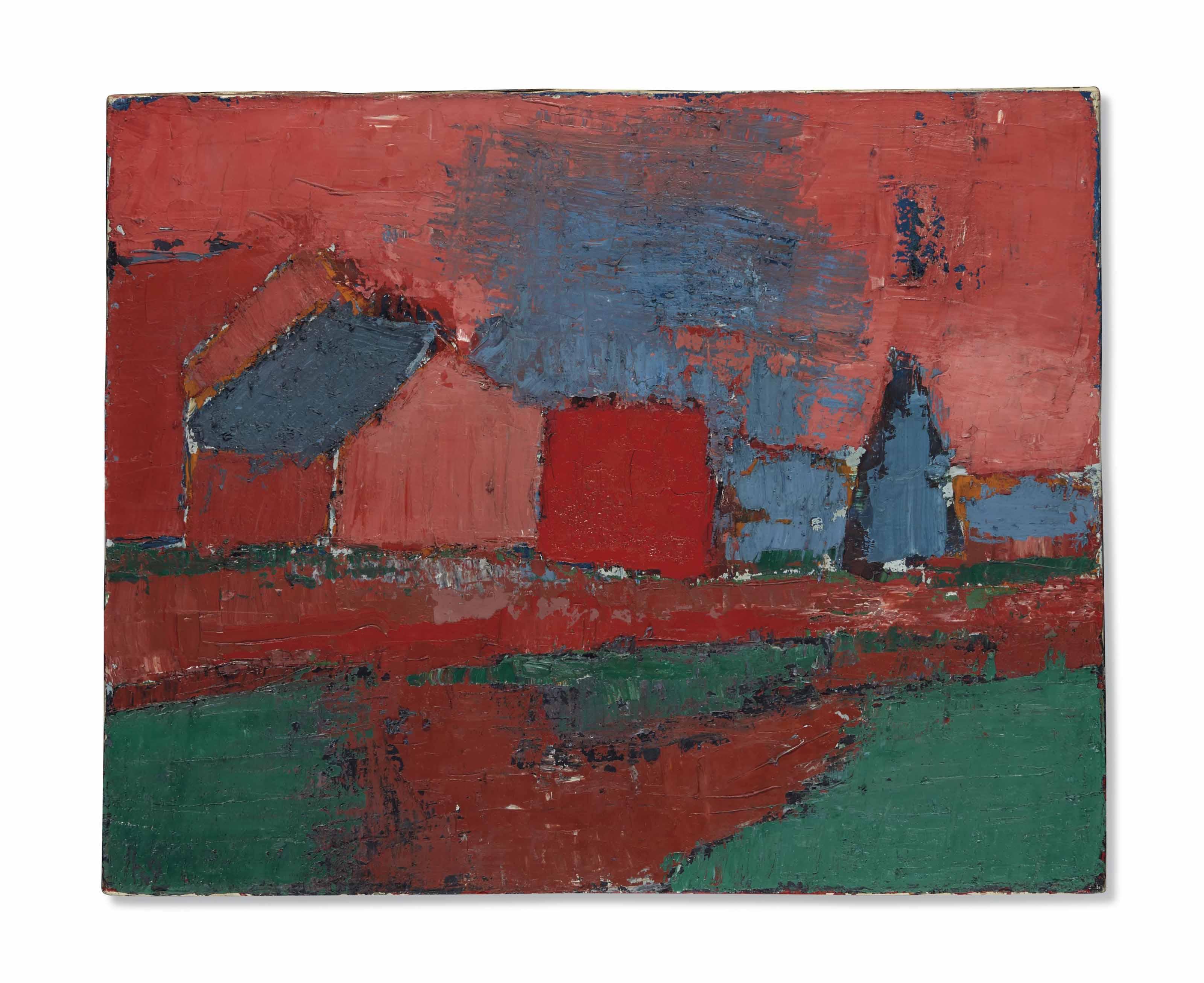 Arbres et maisons (Landscape)
