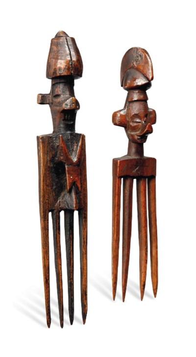 Deux peignes Yaka, Yisanuna Tw