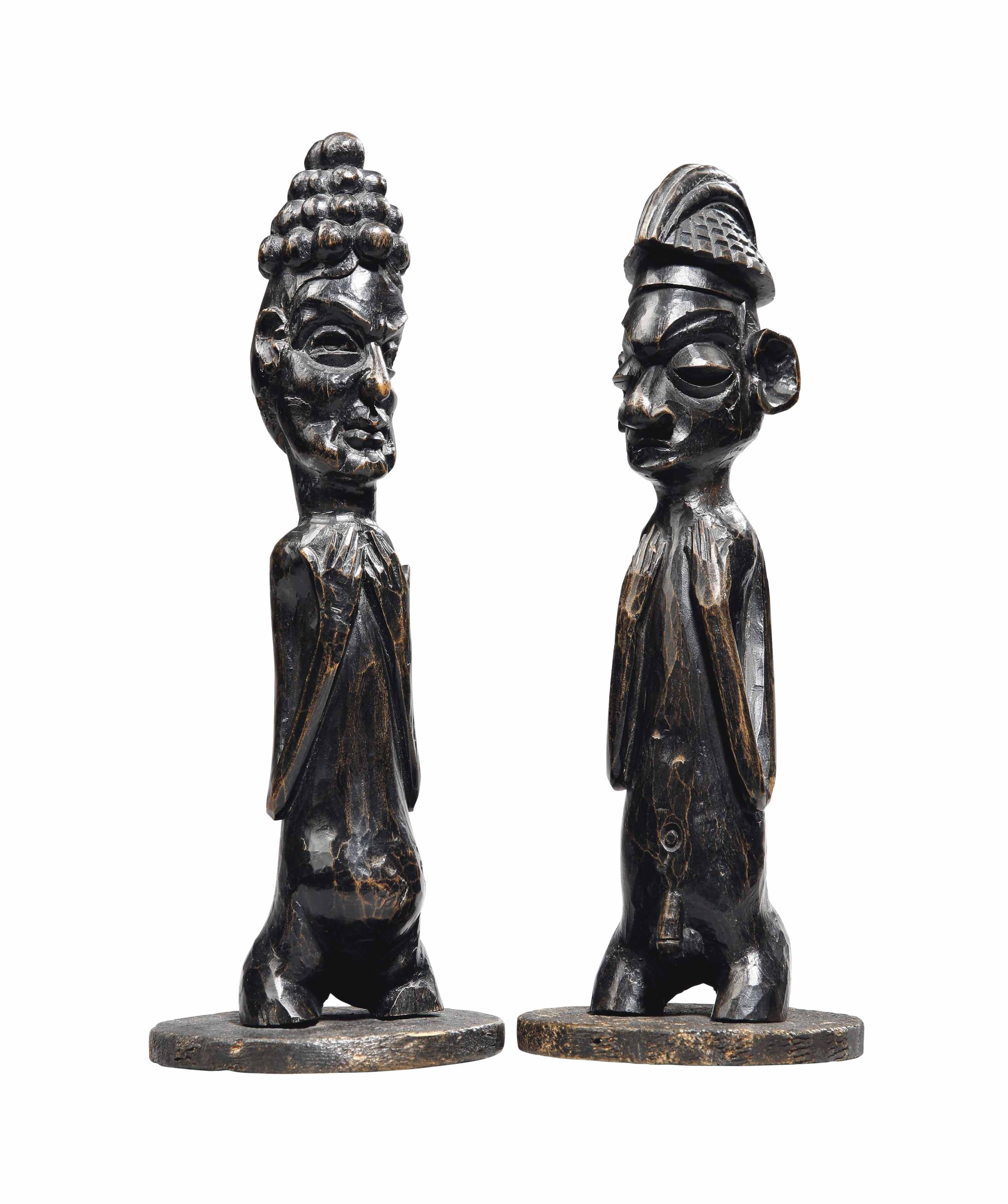 Deux fragment de statuettes Tw