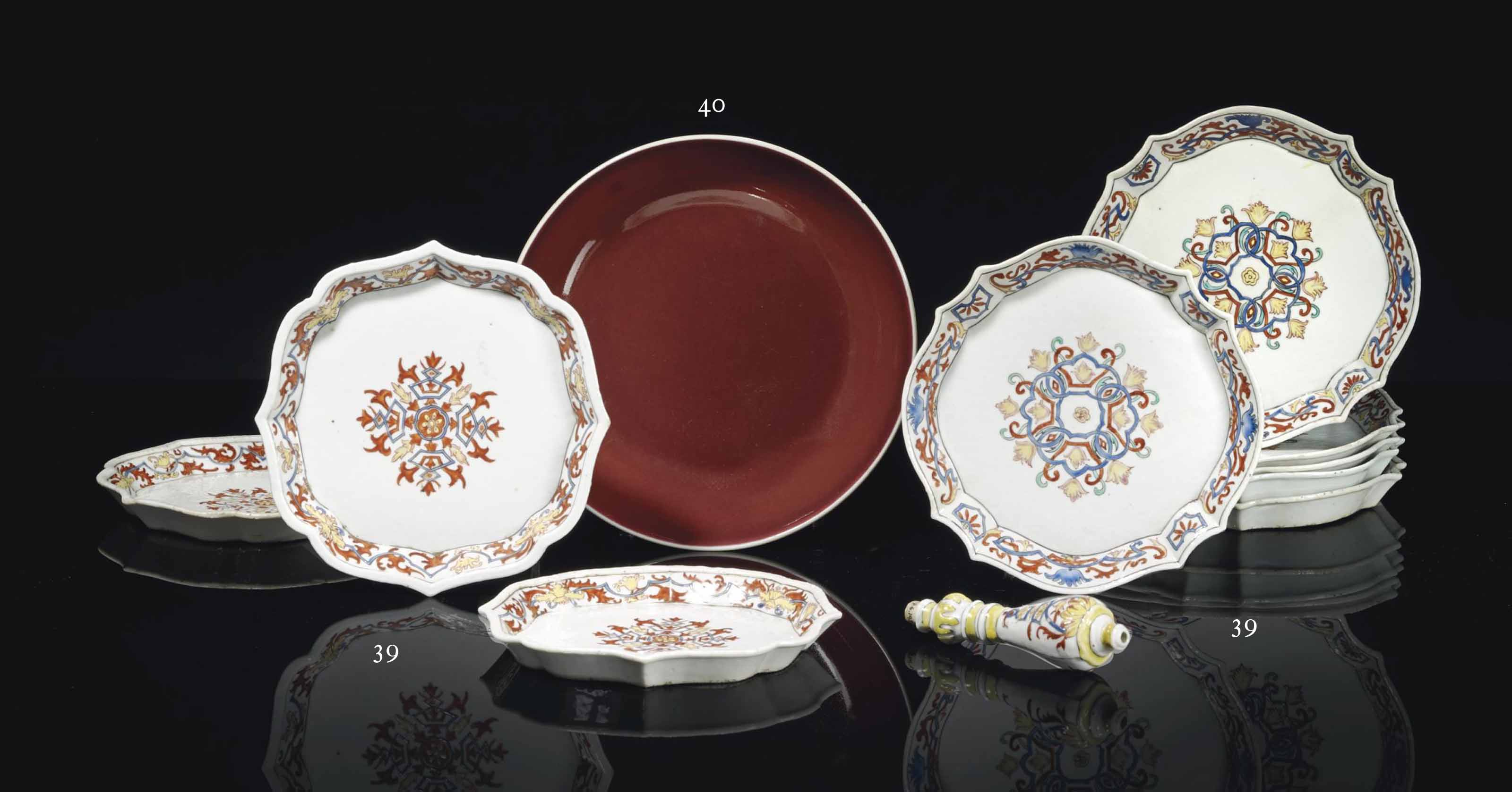 DIX PIECES EN PORCELAINE POLYC