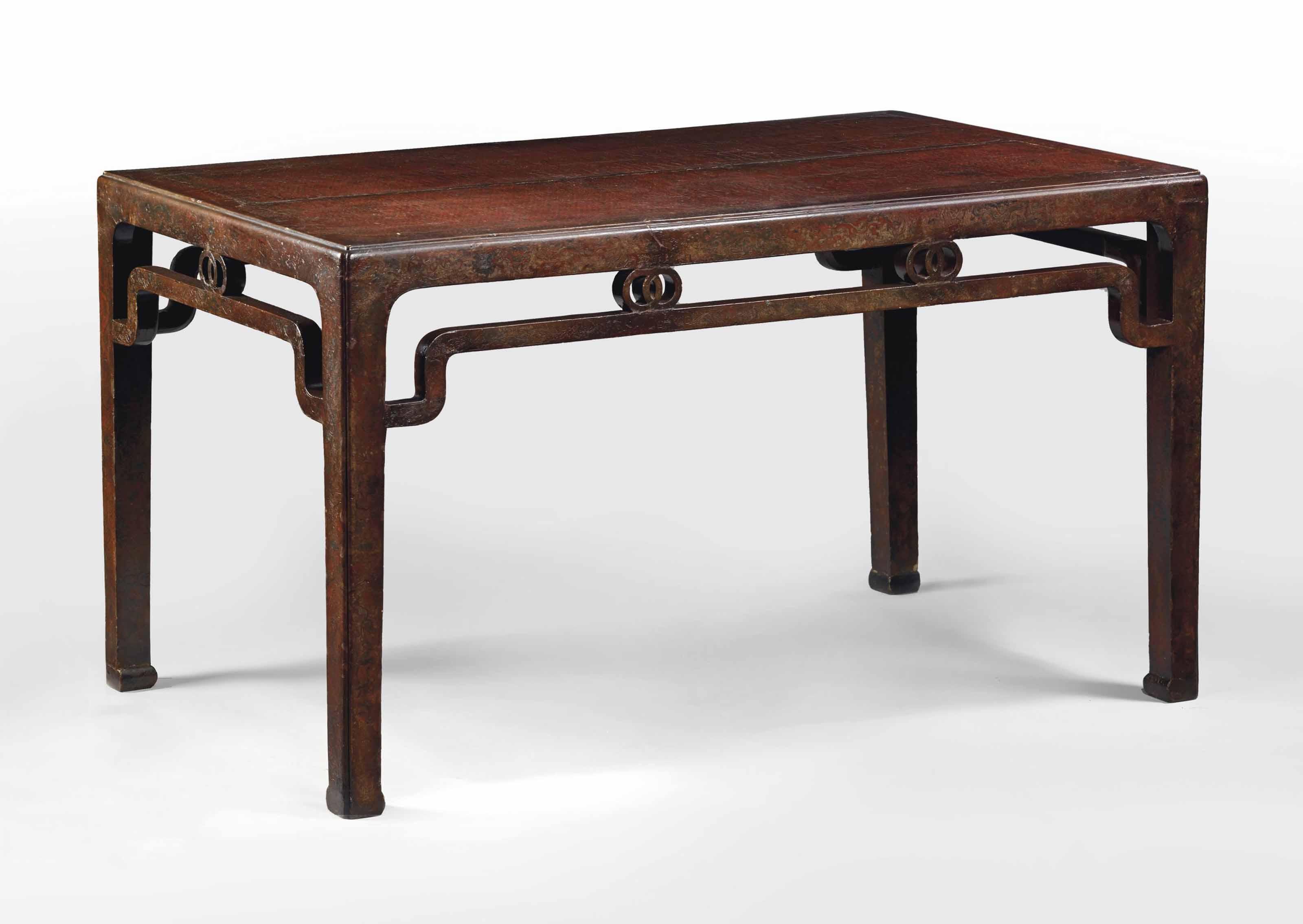 grande table en bois laque chine dynastie ming xviieme. Black Bedroom Furniture Sets. Home Design Ideas