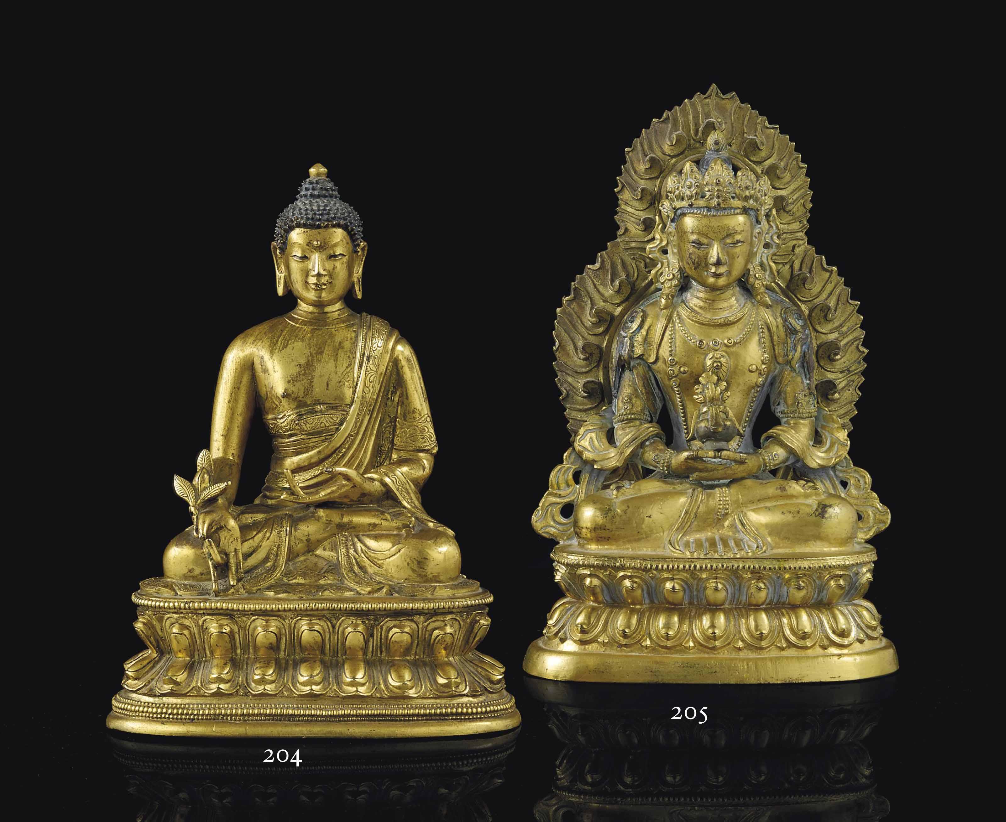 STATUETTE DE BHAISAJYAGURU EN